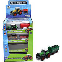 Трактор (арт. 1801C-1), пластик, Шоубокс, 17.20x18.50x24.00 см, 3-6 лет, Jambo, 100828936