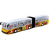 "Автобус ""гармошка"" з музыка, та світ.ефект. (коробка) 1068"