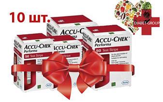 Тест-полоски Акку-Чек Перформа (Accu-Chek Performa) 50 шт. 10 упаковок, фото 2