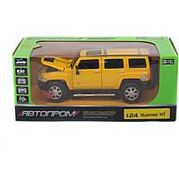 """Машинка металлическая 68240A """"АВТОПРОМ"""", м1:24 Hummer H3, бат, свет, зв, откр.двери, капот, багаж., 24,"""