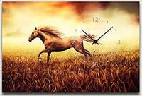 "Картина-часы (40х60 см) ""Конь"""