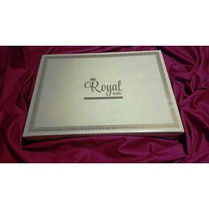 Постельное белье Страйп-сатин 1х1 см белый ТМ Царский дом  (Семейный), фото 2