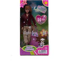 Лялька Defa з песиком (коробка) 6061 р.17х5х33 см.