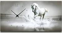 "Картина-часы (50х25 см) ""Конь"""