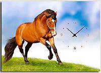 "Картина-часы (50х70 см) ""Конь"""