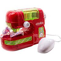 Швейная машинка 14001 18-14-8 см, шьет, педаль управления, муз, св, на бат-ке, 26-20-10 см