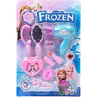 """Набір для дівчаток """"Frozen"""" (біжутерія, фен, плойка, ко сметика, парфуми) JX2022АВ-1 р.32,5*21,5*6 см"""