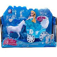 Карета 689-2A лошадка, куколка, 29*9*21 см