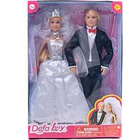 Кукла DEFA 29 см 8305 невеста с женихом 2в. 22,5*5,5*32,5