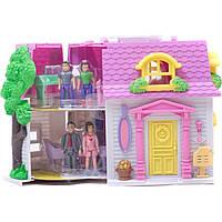 Кукольный дом 08963 с куклами на батарейках, музыка, свет.сумка 30*22*12