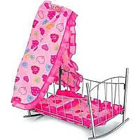 Кроватка MELOGO 9349 (HT) для кукол с балдахином 46*75*26 В