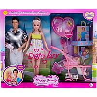 """Кукла """"Defa Lucy""""Семья"""" 8088 с ребенком, коляской, аксесс,"""