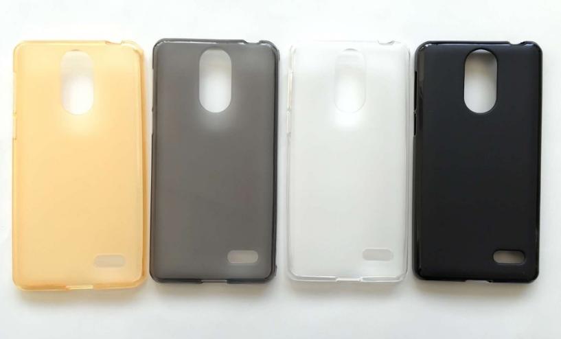 Силиконовый оригинальный чехол бампер для Leagoo M5 с матовым Soft-touch покрытием / Есть защитное стекло /