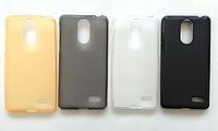 Силиконовый оригинальный чехол бампер для Leagoo M5 с матовым Soft-touch покрытием / Есть защитное стекло / , фото 1