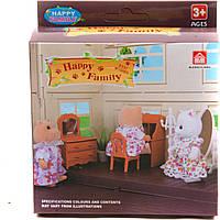 Животные флоксовые 012-05B Happy Family, письменный стол, в короб.12*14*5 см