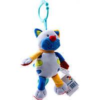 1302 Игрушка велюровая с вибрацией смеющийся котик