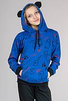 Детский спортивный костюм для девочки Котики (голубой)
