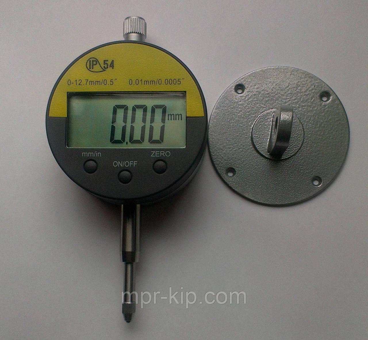 Цифровий індикатор годинникового типу ИЧЦ 0-12,7 мм (0,01 мм) з вушком у водозащитном корпусі IP54