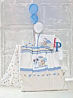 Набор постельного белья в кроватку с бортиком и одеялом Luoca Patisca