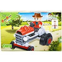 Конструктор BANBAO 8045 ферма, трактор, 52 дет, фигурка, 16-10-3,5 см