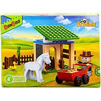 Конструктор BANBAO 8588 ферма, фигурка, животные, 59дет, 19-4-4 см