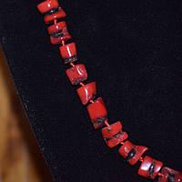Бусы красные коралловые пенечки