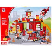 "Конструктор блочний типу ""Duplo"" 90 дет. ""Fire station"" 188-101 р.60*10*45 см."