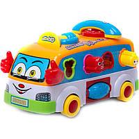 Музыкальная игрушка автобус 2201 батар, сортер, рус.песенка, 29*14,5*15 см