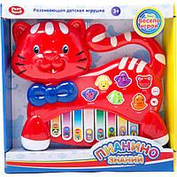 "Орган PLAY SMART 7657A/B ""Пианино знаний"" с животными на батарейках, музыка, свет.2в. 30*7*26"