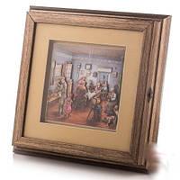"""Ключница-картина 3D """"семья"""", 26x26 см."""