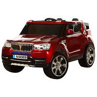 Детский двухместный электромобиль BMW M3107 EBLRS красный, покраска, 4 мотора, мягкое сиденье, EVA, пульт 2.4G