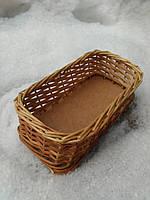 Плетеный лоток из лозы 15х10