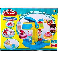 Пластилин MK 0694 мороженое,6цв(баноч с крыш), аппар-пресс, формочки, инструмент, в кор,41-31-9 см