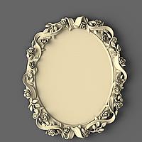 Рама из дуба для зеркала круглая