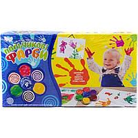 "Пальчиковые краски ""Моя перша творчість"" 4 кольори УКР (12)"