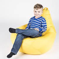 Кресло-мешок груша/Оксфорд/Желтое/Маленький размер/ Основной чехол