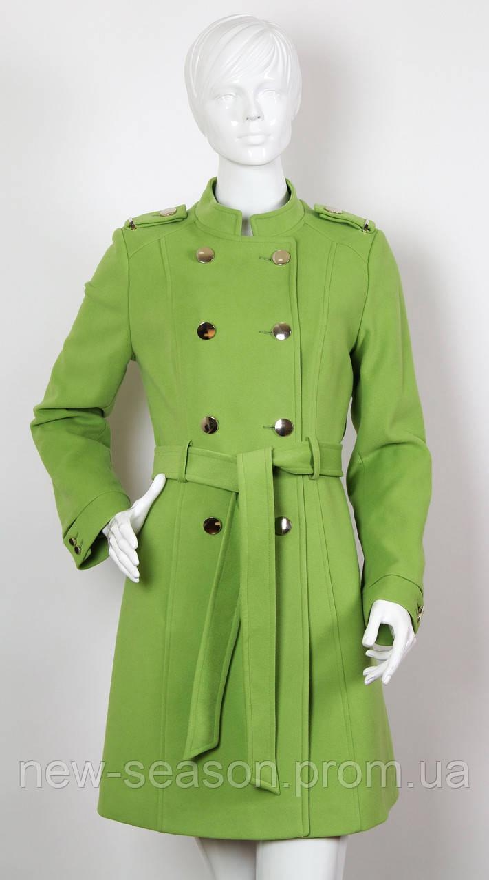 Пальто кашемировое ICON 2742 зеленое