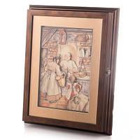 """Ключница-картина 3D """"Пекарня"""",36x28 см."""