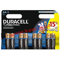 Батарейка Duracell AA TURBO MAX LR06 MN1500 * 8 (5000394011199 / 81480376)