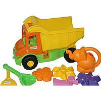 Грузовик Mini truck с набором для песка и лейкой, 8 ел.