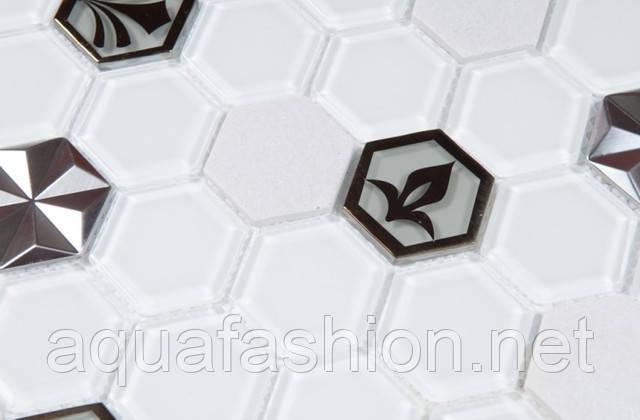 Скляна мозаїка з візерунком Vivacer SB10