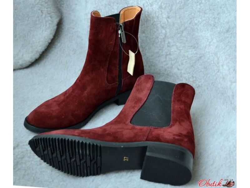 32ebeeeca Демисезонные ботинки женские без каблука из кожи и замши разные цвета  AV0020 - Обутик в Харькове