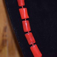 Бусы красные коралловые пенечки высокие