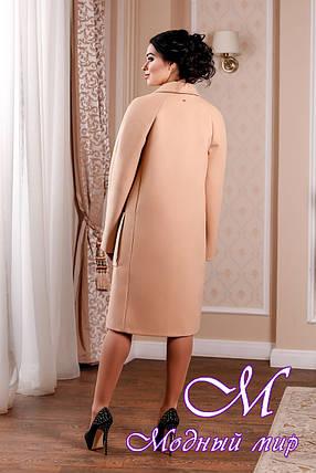 Кашемировое женское пальто персикового цвета батал (р. 44-54) арт. 998 Тон 23, фото 2
