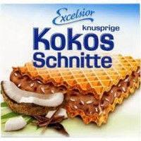 Вафли Excelsior Kokos Schnitte knusprige с кокосом 250гр