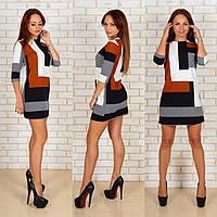 Платье Молодёжное стильное коричневое
