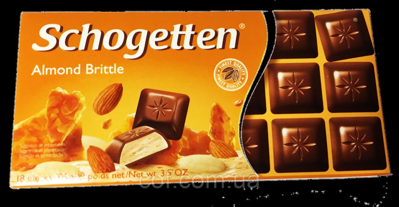 Шоколад молочный Schogetten Almond Brittle (c миндалем) 100г (Германия)
