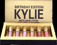Набор помад Kylie Jenner Birthday Edition, жидкие помады Кайли Дженнер (6 матовых оттенков), реплика