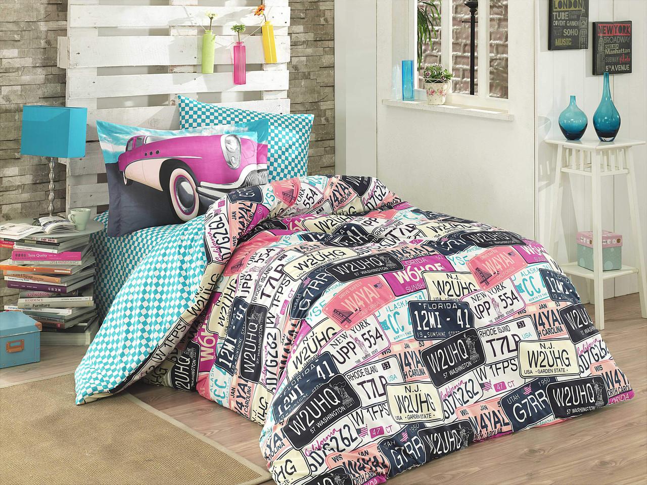 Подростковый постельный комплект Classica (Pink), Hobby