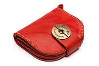 Кожаный кошелек ручной работы Gato Negro Domic женский, красный (женские кошельки из натуральной кожи)